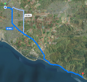 Route zu Neptune's Net