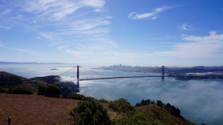 Golden Gate Bridge mit Seenebelschleier