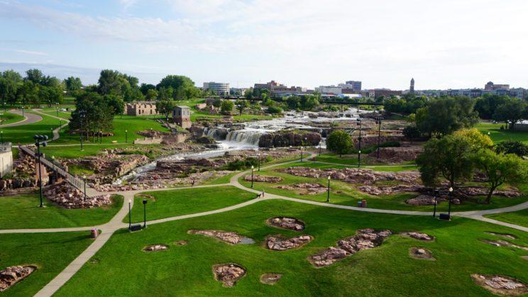 Blick auf die Sioux Falls