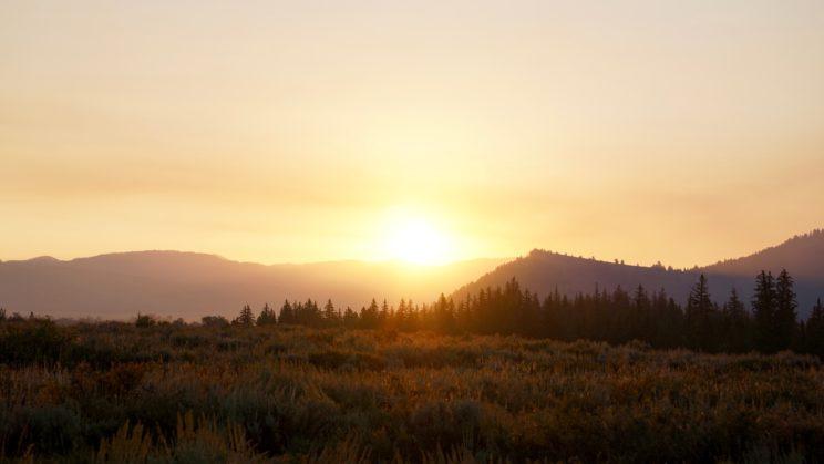 Sonnenaufgang im Grand Teton National Park